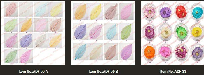 nail art dry flower, Nail Supplies for Nail Art of Stickers & Decals ADF-dry flower(made in China)