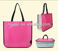 Customized non woven tote bag/polyester tote bag/tote cosmetic bag