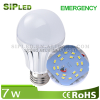 7W rechargeable bulb emergency led bulb light B22/E27 with back-up battery
