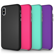 Phone accessories mobile TPU+ PC antiskid phone case cover for iphone x silicone phone case