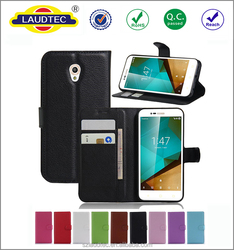 Vintage Flip Pu Leather Case for vodafone smart prime 7, Magnetic wallet Phone Case