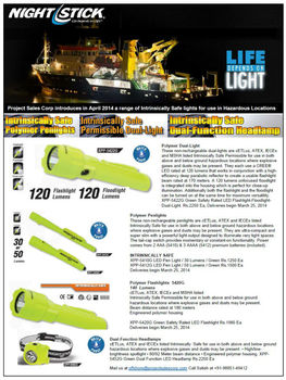 Nightstick Intrinsically Safe Flashlights