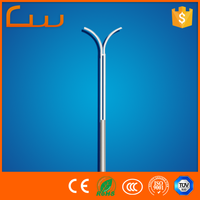 galvanize lamp post suitable street light price Q235 steel pole