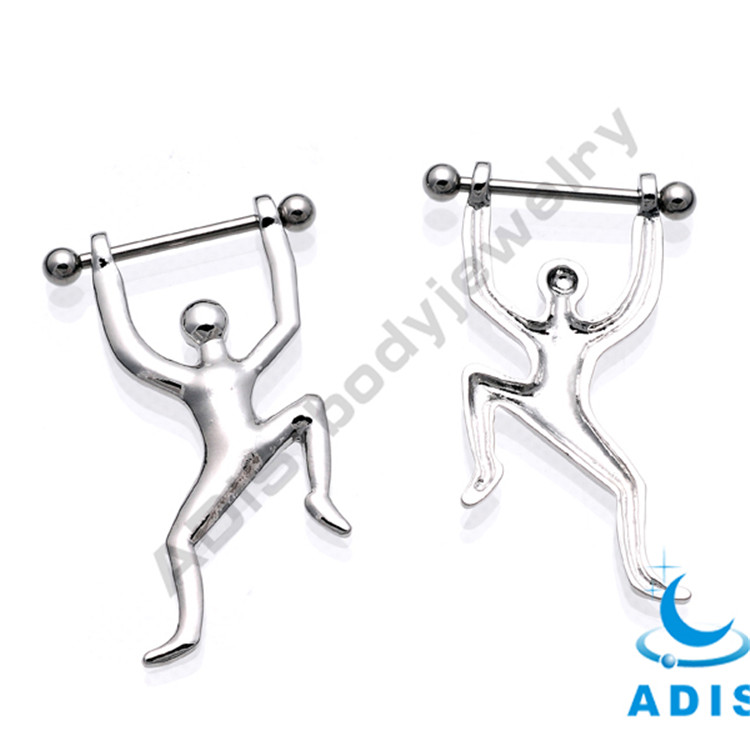 Stainless Steel Nipple Ring Penis Body Piercing Jewelry