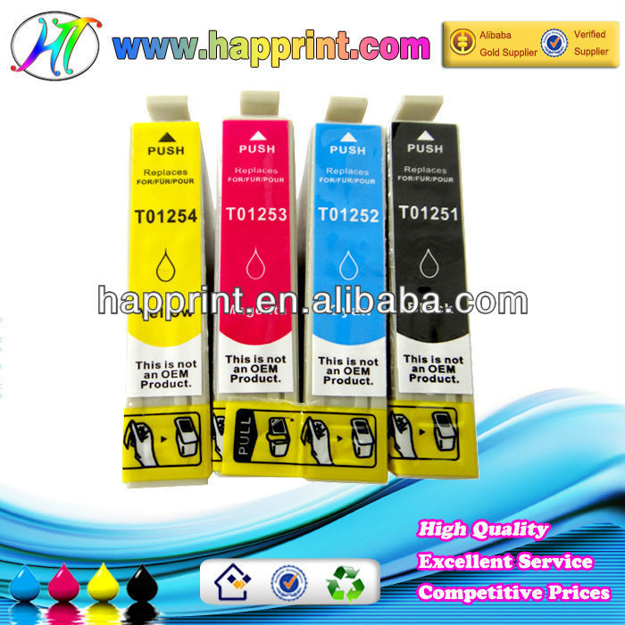 Factory price high quality for Epson T1251 T1252 T1253 T1254 g & g ink cartridge