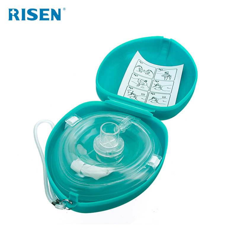 adult cpr life mask key chain pouch reusable mask disposable face mask with one way valve