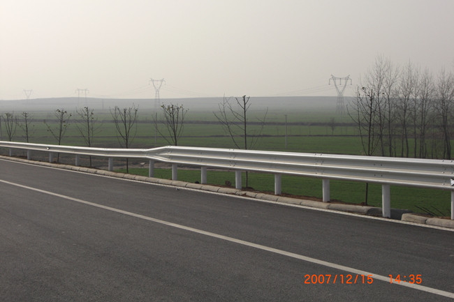 Three Wave Galvanized or Powder Coated Highway Guardrail