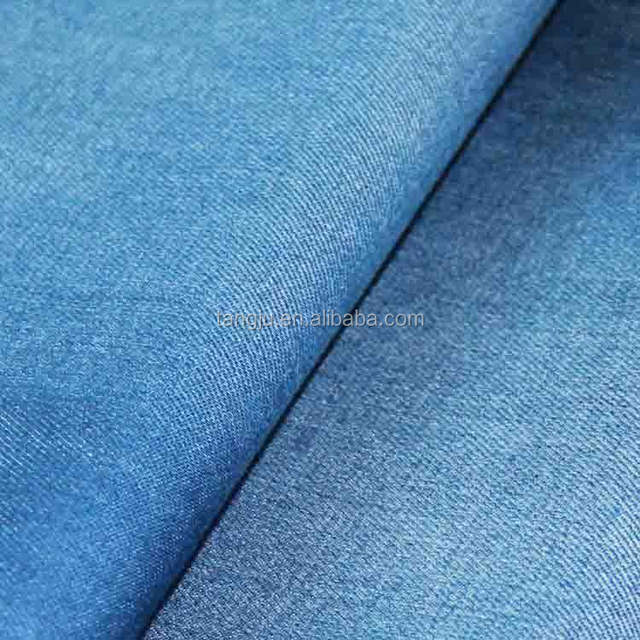 China Manufacturers Supply Textile Wholesale Bulk Yarn Dyed 30S 260GSM Indigo Knitted Pique Denim Fabrics