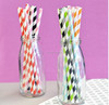 custom size and pattern Disposable paper straws custom crazy straw