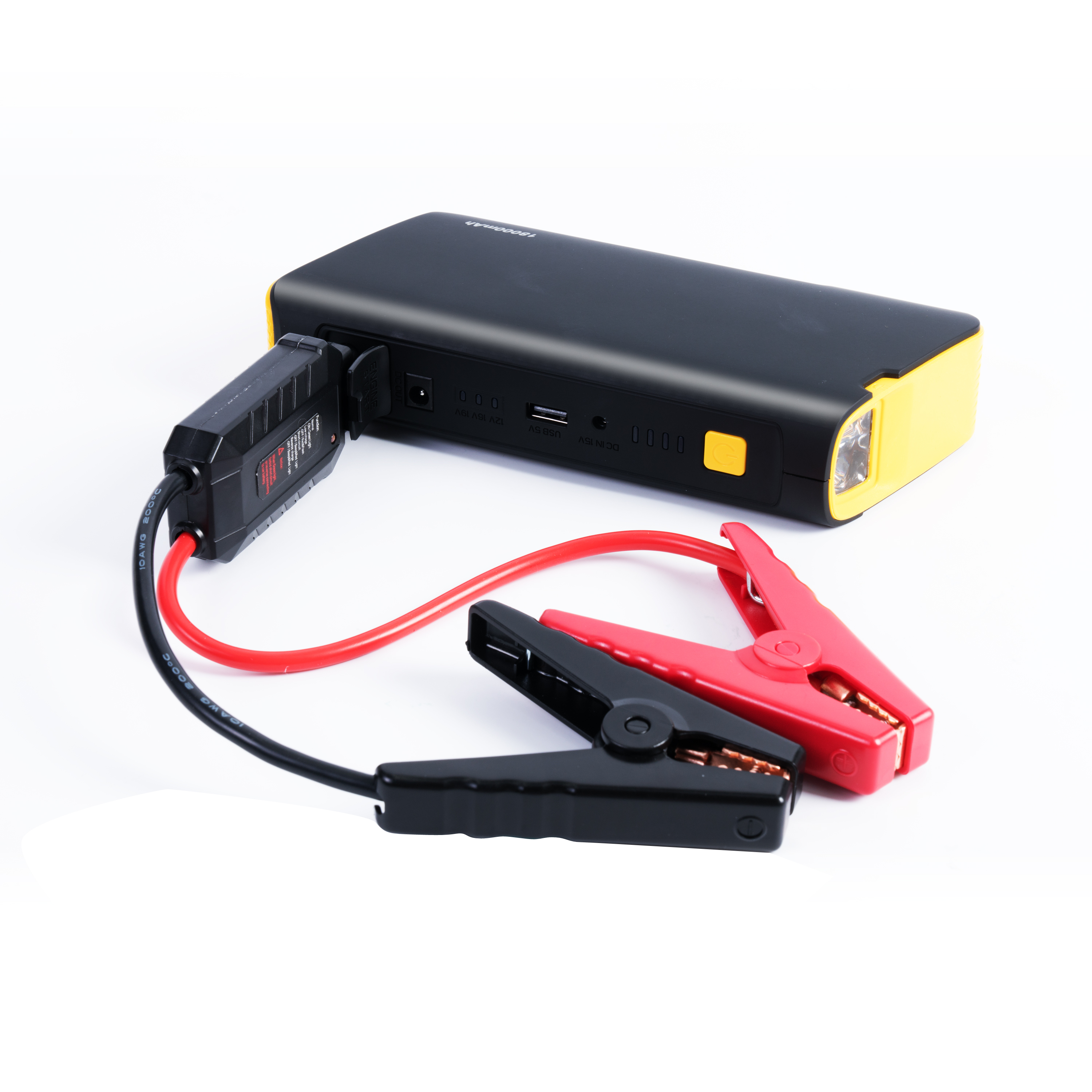 Car Jump Starter 12V 18000mAH Power Bank Lithium Ion battery Booster