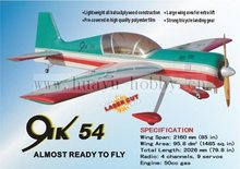 R/C Airplane YAK 54 -50CC model planes airplanes gas plane