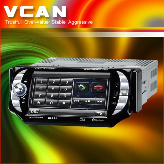 Car dvd GPS -5 inch 1 din DVD Bluetooth Ipod TV FM/AM RDS (GPS-557)