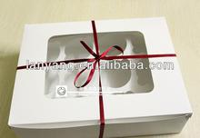 white 12 designer cupcake packaging box