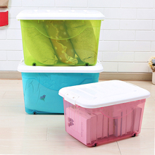 Wholesale Plastic Storage Containers with Wheels, plastic sorting box