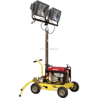 Trailer type Mobile Air-cooled Gasoline Generator Lighting Tower With Folding Mast GLT1400WJ