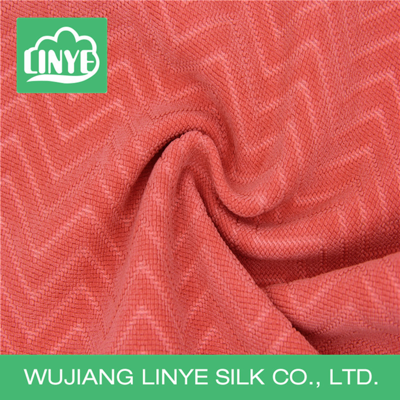 wave patterned corduroy fabric for lady dress