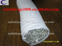 WHITE SINGLE LAYER COMBI PVC FLEXIBLE ALUMINUM DUCTING FOR HVAC SYSTEM EM