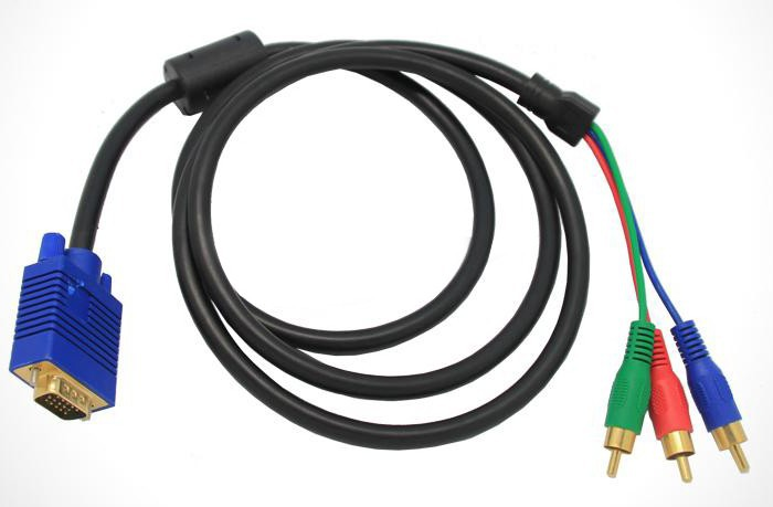 Good quality av cable 3 rca to vga splitter cable