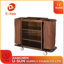High quality hotel housekeeping trolley maid cart trolley commercial cleaning service trolley