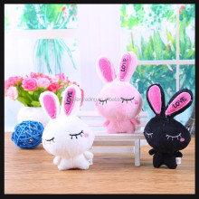 small stuffed toys black rabbit plush toys
