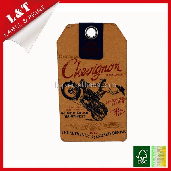 China factory supply hang tag , custom tag ,clothing handbag tag