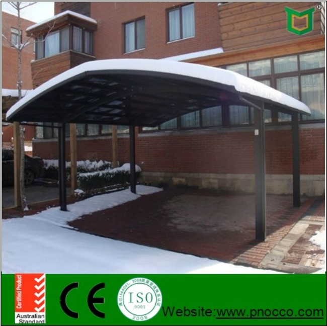 Japan High Snow Load Aluminum Single Slope Carport With Polycarbonate Roof
