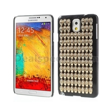 3D Skull Heads Plastic Hard Case for Samsung Galaxy Note 3 N9005 N9000 - Black
