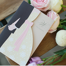 2018 new design Embossed luxury wedding invitation cards