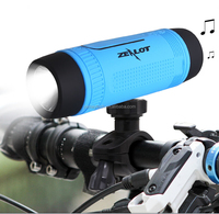 New Product 2015 Outdoor Portable Bluetooth Speaker with FM Radio Bluetooth Flashlight for Bike