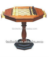 fashion wooden Chess Game Table with drawer and checkers
