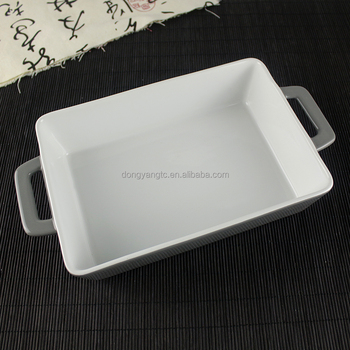 "bread baking pan casserole customized bakeware 11.8"" China factory cheap porcelain glaze rectangle ceramic bakeware"
