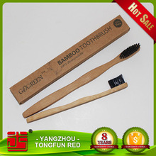 Private label 100% biodegradable wholesale eco-nature disposable toothbrush bamboo for hotels