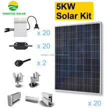 High efficiency renewable 5kw solar kits for africa
