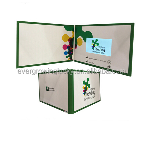 tft lcd custom video greeting card/mp4 greeting cards