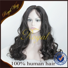 New Design ! Natural Black Color Wigs Three Parts Silk Top Wigs, Mongolian Hair Curl Wig