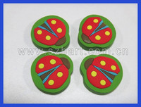 promotion gift 2d insect shaped rubber eraser