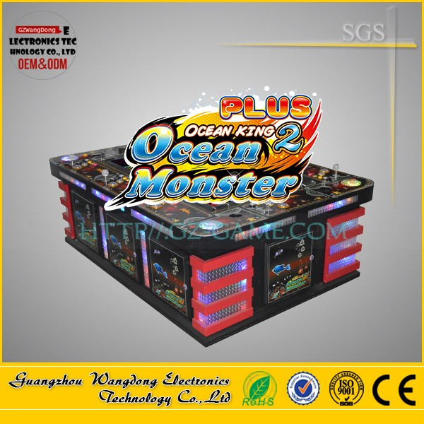 Arcade machine /outlet shooting fish game/fishing hunter Ocean King 2 monster operated with bill acceptor