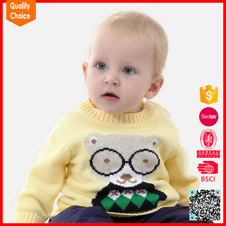 New arrival fashion pullover baby boy sweater designs