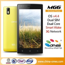 Arabic Language built in MG6 3G WCDMA 850/1900/2100 Mhz 5 inch IPS android 4.4 Dual Sim no replica smart phones