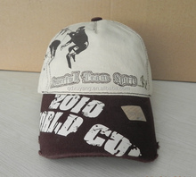 fashion print cotton football team fans sports cap and hat