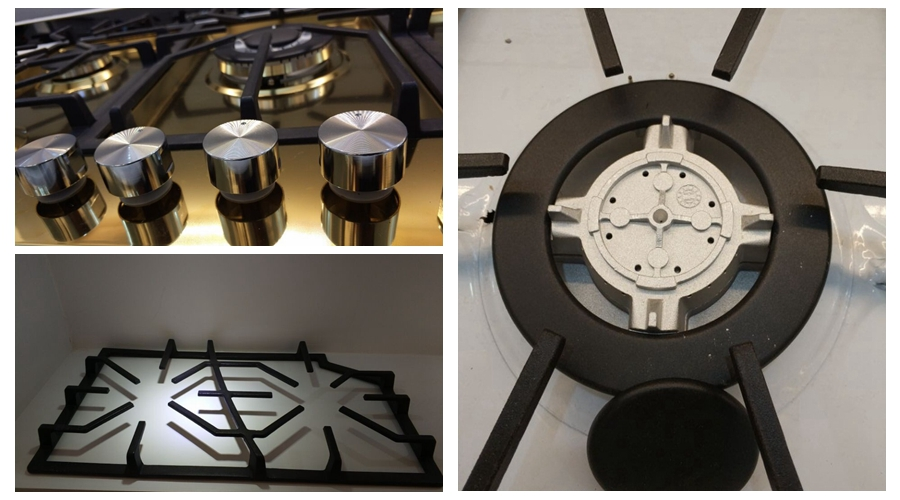 Five Burner Stainless Steel Water Plate Gas Hobs