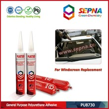 Good Adhesion with aluminum plate Black Waterproof Polyurethane/PU car windshield Adhesives PU8730 used for auto repair market