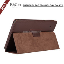 8 inch stand case premium leather flip cover case for Samsung Tab e tablet leather case