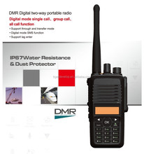 compatible with Motorola key board 5w output power IP76 waterproof dmr transceiver