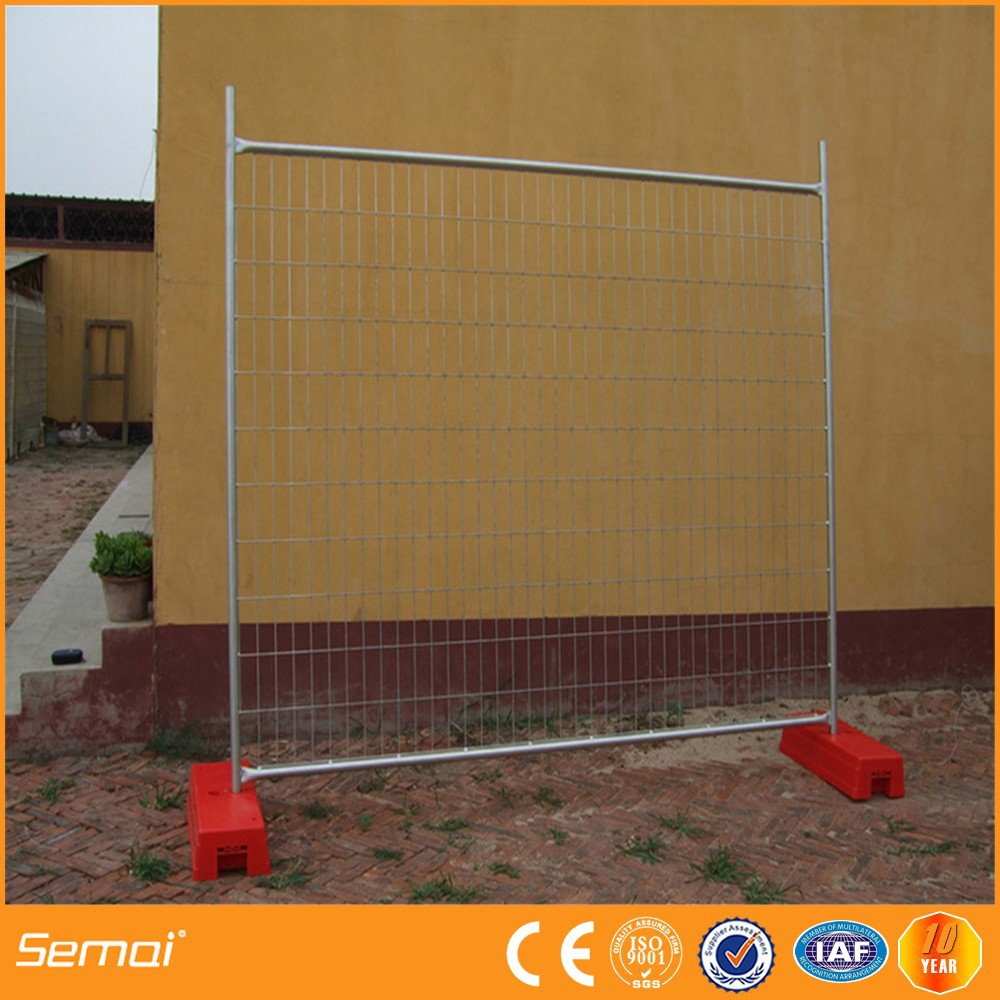 high quality galvanized portable temporary fence supplier,outdoor fence