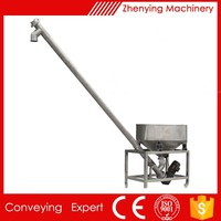 600 kg per hour spiral grain screw transport conveyor in food industry