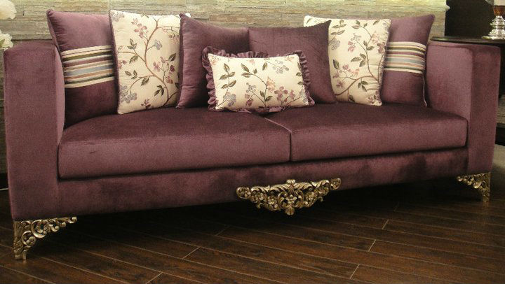 Galleria Designer Carved 3 Seater Classic/Contemporary Sofa