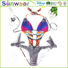 Super sexy women 2016 push up padded bikini swimwear manufacturers OEM full open style
