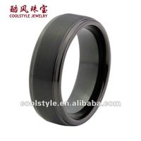 Tungsten carbide ring, black tungsten ring, popular tungsten ring