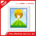 resin wall decorative 5D DIY cute pricess diamond painting 40*45cm with round diamond